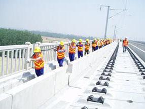 铁路电力安装现场